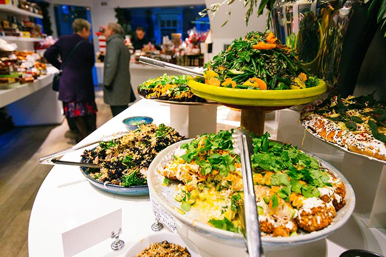 Healthy salad bar at Ottolenghi